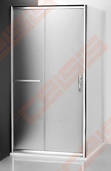 Šoninė dušo sienelė ROLTECHNIK PROXIMA LINE PXBN/100 durims PXDO1N ir PXD2N su brillant spalvos profiliu ir satinato stiklu Paveikslėlis 2 iš 4 270770000388