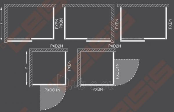 Šoninė dušo sienelė ROLTECHNIK PROXIMA LINE PXBN/80 durims PXDO1N ir PXD2N su brillant spalvos profiliu ir skaidriu stiklu Paveikslėlis 4 iš 4 270770000391
