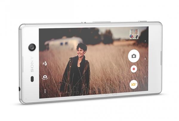 Išmanusis telefonas Sony E5603 Xperia M5 white Paveikslėlis 2 iš 3 310820154955