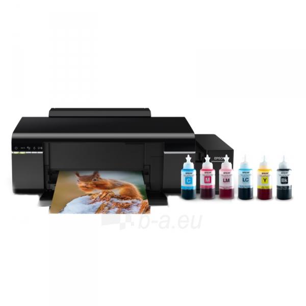 Spausdintuvas Epson L805 Inkjet Photo printer / 6 Ink Cartridges / 37ppm mono/ 38ppm color / USB / Wifi / Paper tray 120 Sheets / Prints on CD / DVD Paveikslėlis 1 iš 5 310820014444