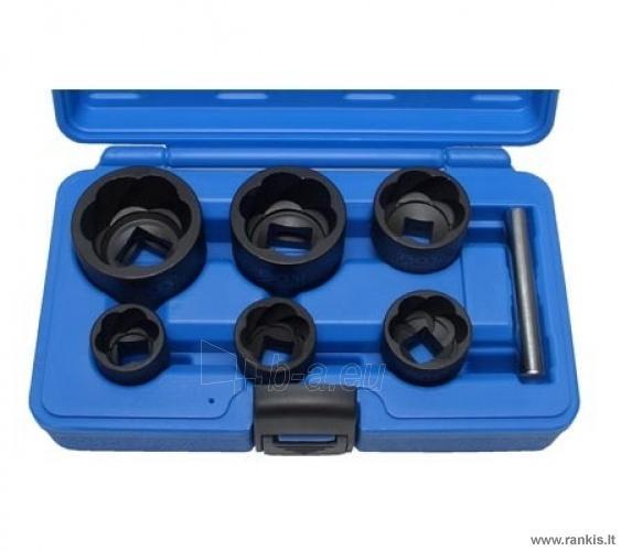 Specializuotų galvučių rinkinys nudilusiems varžtams 22-41 mm, 1/2+3/4 Paveikslėlis 1 iš 1 310820017654