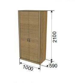Spinta 2-jų durų (1000 mm) ULA-3 Paveikslėlis 1 iš 2 300558000003