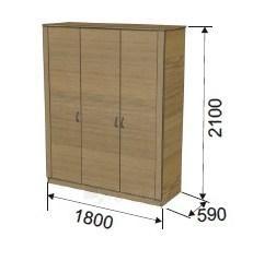 Spinta 3-jų durų (1800 mm) ULA-5 Paveikslėlis 1 iš 2 300558000006