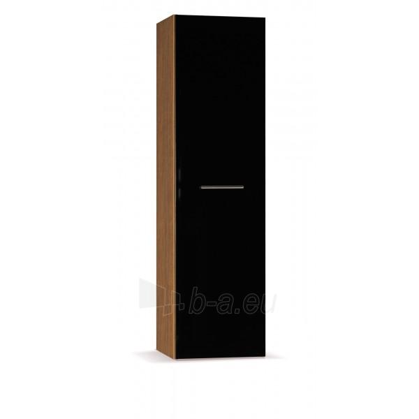 Spintelė su lentynomis juoda blizgi T12 Paveikslėlis 1 iš 1 300861000012