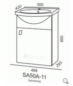 Spintelė su praustuvu Riva SA50A-11 Paveikslėlis 2 iš 3 310820055984