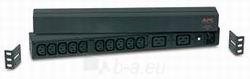 APC rack 19 Basic PDU, 1U, 16A/230V, 10 lizdų C13, 2 lizdų C19 Paveikslėlis 1 iš 1 250254301240
