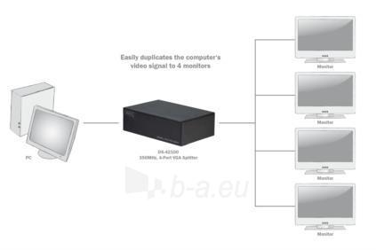 Spliteris Digitus 1xPC=>4xVGA, 400 MHz Paveikslėlis 5 iš 5 250251300117