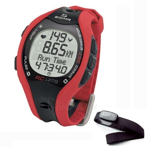 Sportinis laikrodis / pulsometras SIGMA RC 12.09-RED Paveikslėlis 1 iš 1 310820018771