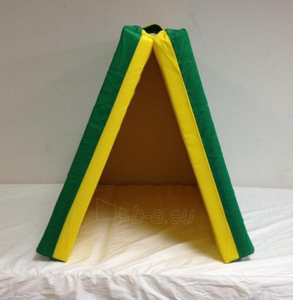 Sporto kilimėlis, 66 x 120 cm, žalia/ geltona, su skirtuku Paveikslėlis 1 iš 1 310820041028