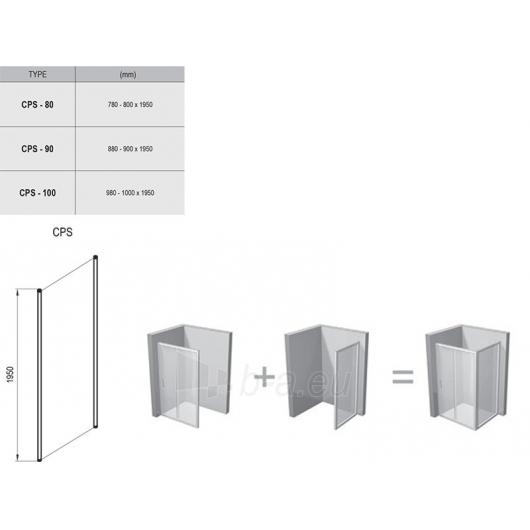 Stacionari sienelė Chrome CPS 80,90,100x195CM Paveikslėlis 2 iš 2 270730001147