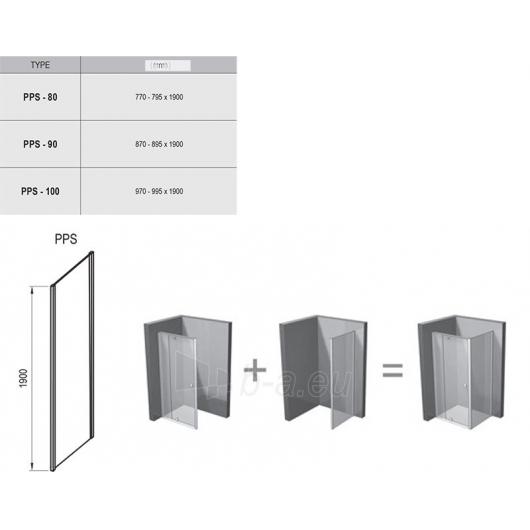 Stacionari sienelė Pivot PPS 80,90,100cm Paveikslėlis 2 iš 2 270730001148