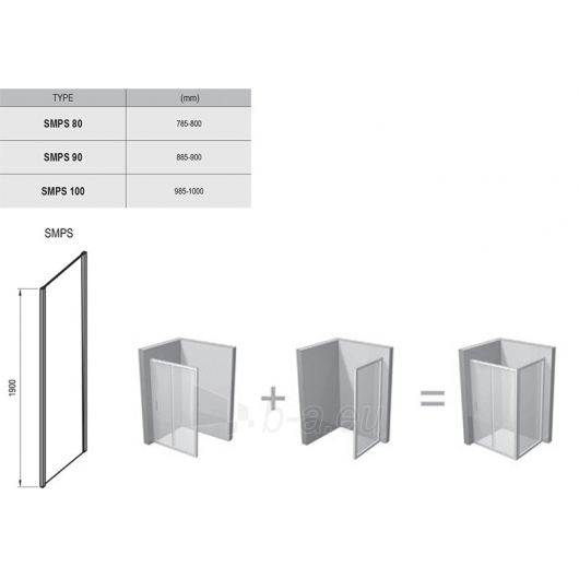 Stacionari sienelė SmartLine SMPS 80,90,100x190CM Paveikslėlis 4 iš 4 270730001149