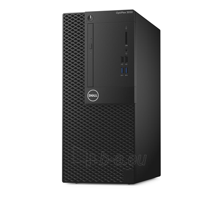 Stacionarus kompiuteris Dell OptiPlex 3050 Desktop, Tower, Intel Core i3, i3-7100, Internal memory 8 GB, DDR4, SSD 256 GB, Intel HD, Tray load DVD Drive (Reads and Writes to DVD/CD), Keyboard language English, Windows 10 Pro, Warranty Basic Onsite 36 mon Paveikslėlis 1 iš 2 310820162571