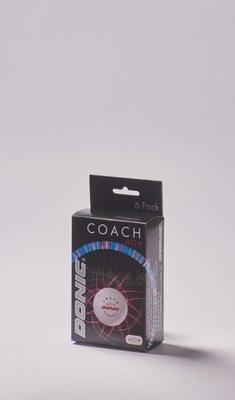 Stalo teniso kamuoliukai DONIC COACH P40+ 6 vnt balti Paveikslėlis 1 iš 2 310820124832