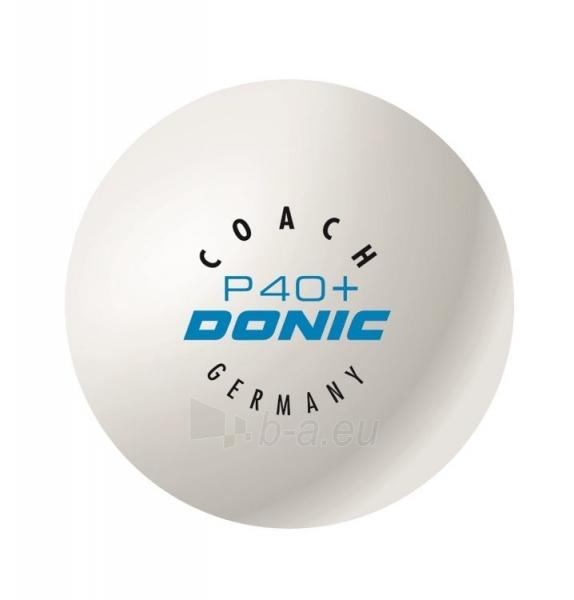 Stalo teniso kamuoliukai DONIC COACH P40+ 6 vnt balti Paveikslėlis 2 iš 2 310820124832