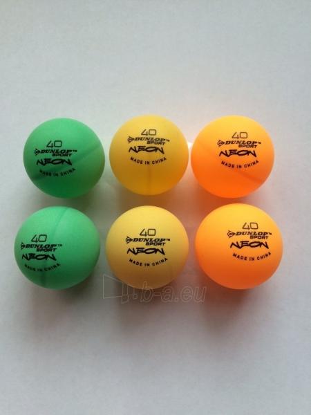 Stalo teniso kamuoliukai Dunlop Neonglow Funball, 6 vnt Paveikslėlis 1 iš 1 310820039687