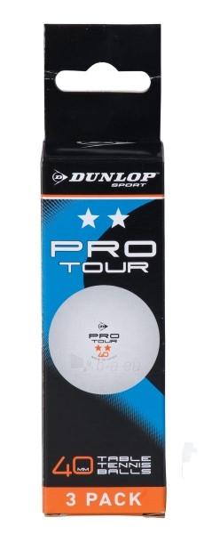Stalo teniso kamuoliukai Dunlop Pro tour 2-star, 3vnt Paveikslėlis 1 iš 1 310820040056