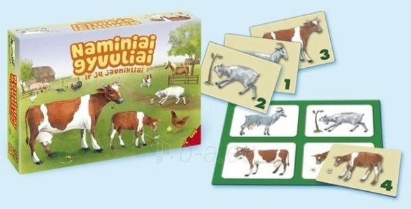 Stalo žaidimas Naminiai gyvuliai ir jų jaunikliai Paveikslėlis 1 iš 1 30051700386