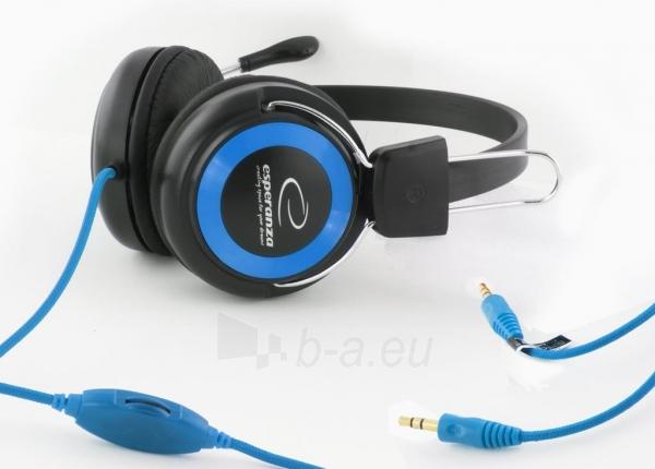 Stereo ausinės su mikrofonu Esperanza EH152B Garso reguliavimas Paveikslėlis 3 iš 7 250255090869