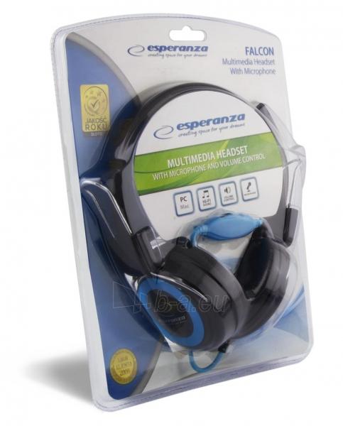 Stereo ausinės su mikrofonu Esperanza EH152B Garso reguliavimas Paveikslėlis 6 iš 7 250255090869