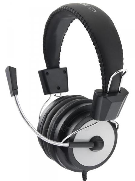 Stereo ausinės su mikrofonu Esperanza EH154K Garso reguliavimas Black / grey Paveikslėlis 2 iš 6 250255091011
