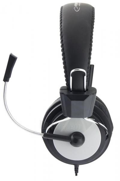 Stereo ausinės su mikrofonu Esperanza EH154K Garso reguliavimas Black / grey Paveikslėlis 3 iš 6 250255091011