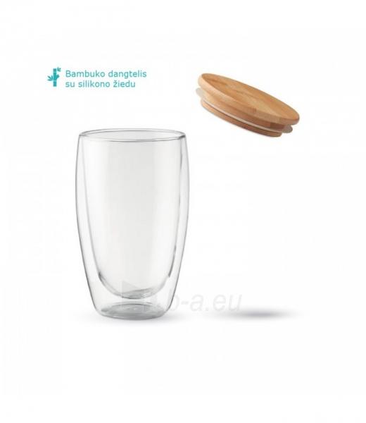 Stiklinių su dvigubomis sienelėmis rinkinys su dangteliais (2vnt.) 450ml. L19012 Paveikslėlis 3 iš 7 310820221220