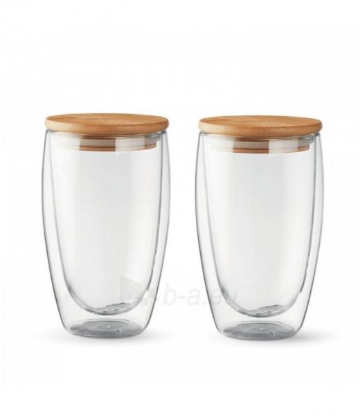Stiklinių su dvigubomis sienelėmis rinkinys su dangteliais (2vnt.) 450ml. L19012 Paveikslėlis 4 iš 7 310820221220