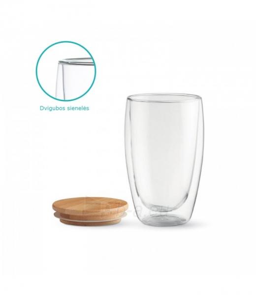 Stiklinių su dvigubomis sienelėmis rinkinys su dangteliais (2vnt.) 450ml. L19012 Paveikslėlis 6 iš 7 310820221220