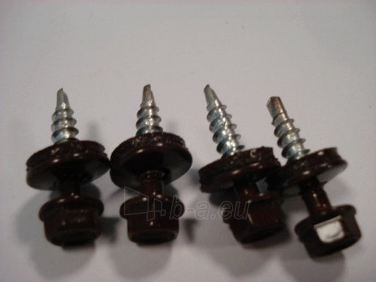 Stoginis sraigtas K4,8x35 su tarpine, RALL8017 rudas Paveikslėlis 1 iš 1 236242200017