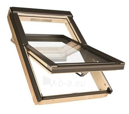 Lūka FAKRO FTS-V ar stiklu U2,  94x140   cm, priedes koksnes Paveikslėlis 1 iš 4 237910000397