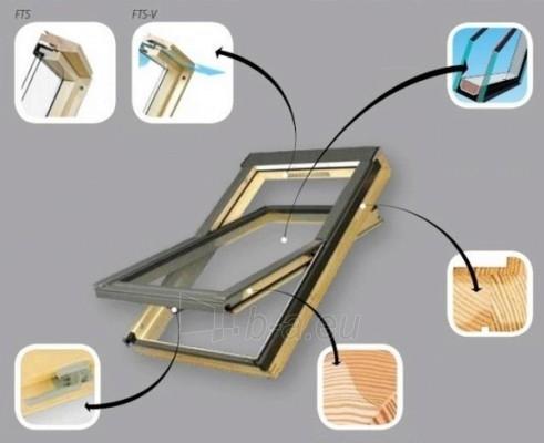 Roof windows FAKRO FTS-V with glass U2, 66x98 cm, pine wood Paveikslėlis 2 iš 4 237910000392
