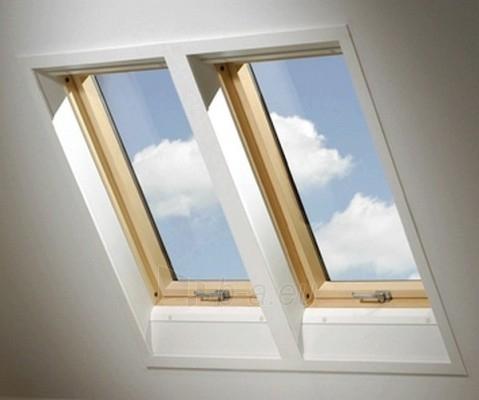 Roof windows FAKRO FTS-V with glass U2,114x140 cm, pine wood Paveikslėlis 4 iš 4 237910000399