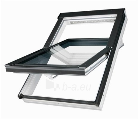 Roof windows FAKRO PTP-V with glass U3 and hatch V35, 94x140 cm, PVC, white Paveikslėlis 1 iš 6 237910000432