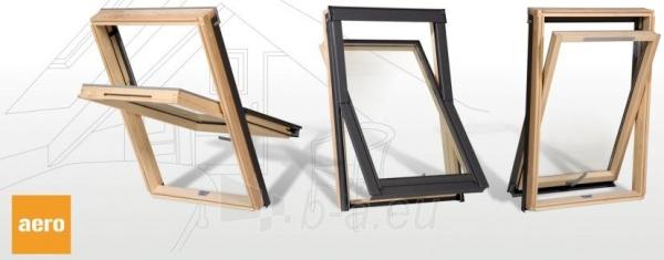 Stoglangis RoofLITE AERO AVX500 78x98 cm, medinis su ventiliacija Paveikslėlis 1 iš 2 237910000501