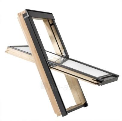 Stoglangis RoofLITE CORE AAX500 78x98 cm, medinis Paveikslėlis 1 iš 2 237910000381