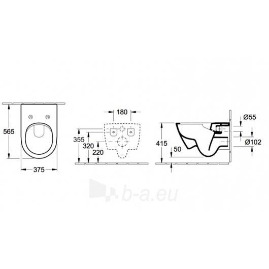 Subway 2.0 Direct Flush hanging toilet with plonu soft close Paveikslėlis 2 iš 5 310820079467