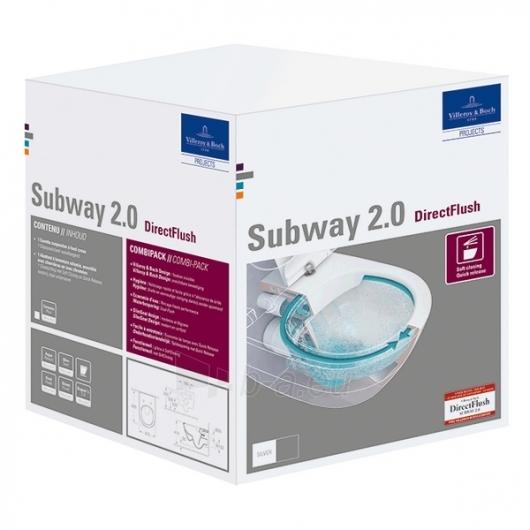 Subway 2.0 Direct Flush hanging toilet with plonu soft close Paveikslėlis 3 iš 5 310820079467
