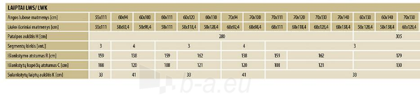 Sudedami laiptai FAKRO LWK KOMFORT 60x130x305 3 segmentų Paveikslėlis 5 iš 5 237960000023