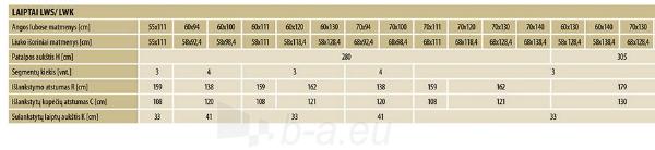 Novietoti kāpnes FAKRO LWK KOMFORT 60x94x280  4 segmenti Paveikslėlis 5 iš 5 237960000028