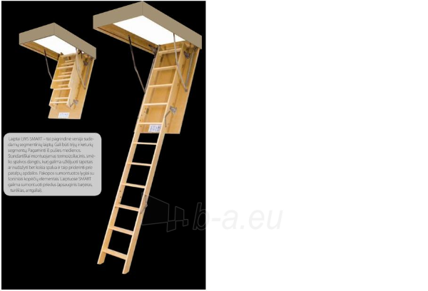 Folding section loft ladders FAKRO LWS Smart 60x100x280 3 section Paveikslėlis 5 iš 7 237960000009