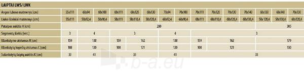 Novietoti kāpnes FAKRO LWS Smart 70x130x280 3 segmenti Paveikslėlis 4 iš 4 237960000013