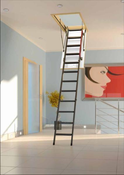 3 - section metal loft ladder FAKRO LML 70x130x305 Paveikslėlis 1 iš 2 2379600000105