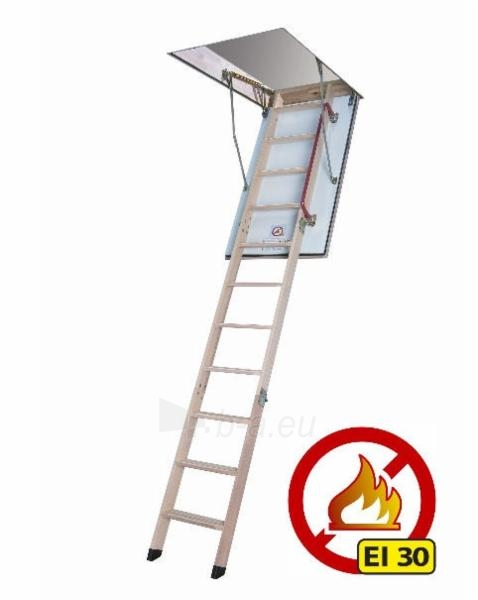 Fire-Resistant loft ladder FAKRO LWF (EI2: 30 min). 86x130x305 Paveikslėlis 1 iš 1 2379600000087