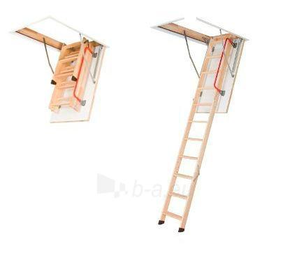 3-section folden wooden loft ladder FAKRO LWZ 70x140x305 cm Paveikslėlis 1 iš 4 2379600000068