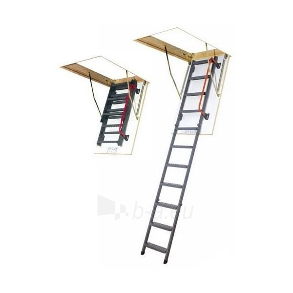 Folding section loft ladders FAKRO LMS 60x120x280, metal Paveikslėlis 1 iš 1 2379600000107