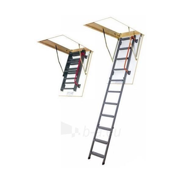 Sudedami segmentiniai palėpės laiptai FAKRO LMS 70x130x305 su metalinėmis kopėčiomis ir turėklais Paveikslėlis 1 iš 1 2379600000112