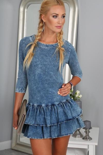 Suknelė Adelia (mėlynos spalvos) Paveikslėlis 1 iš 4 310820045528