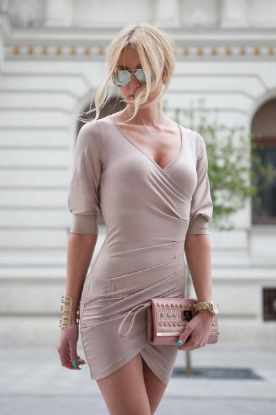 Suknelė Ava (kapučino spalvos) Paveikslėlis 1 iš 4 310820035828