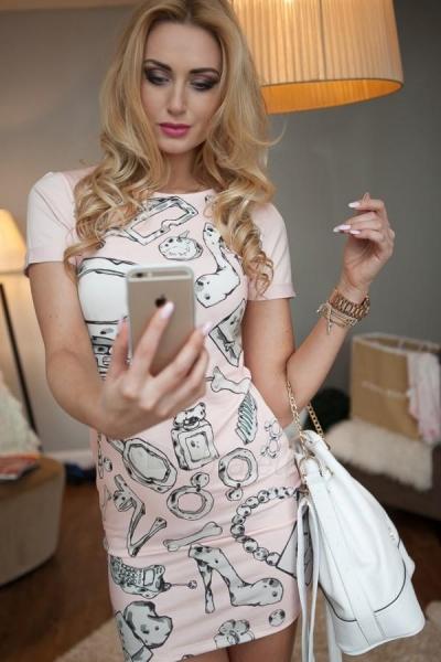 Suknelė Deidra (rožinės spalvos) Paveikslėlis 1 iš 4 310820035652